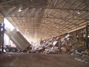 Fogging dust suppression recycling centre